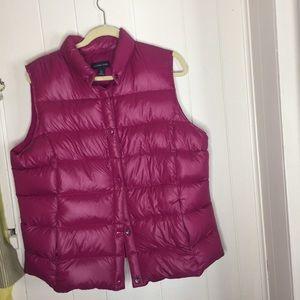 Lands end puffer vest pink size Large
